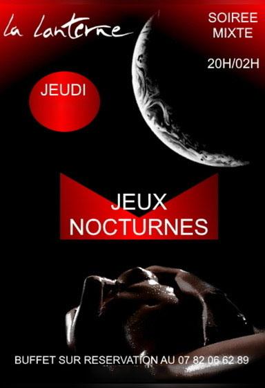 affiche jeux nocturnes soirée mixte libertine