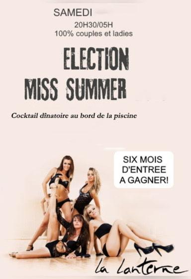 affiche Élection Miss Summer