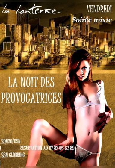 affiche Nuit des provocatrices (Soirée mixte)