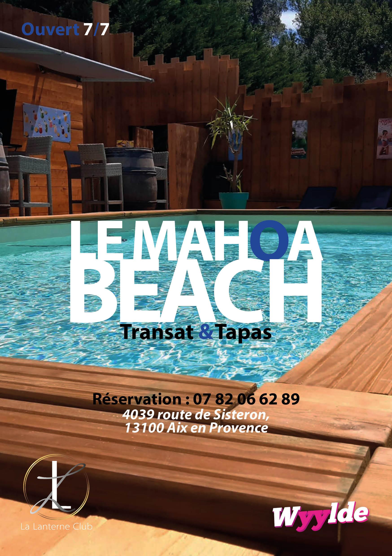 Tous les jours : Mahoa Beach Piscine [13h/19h]