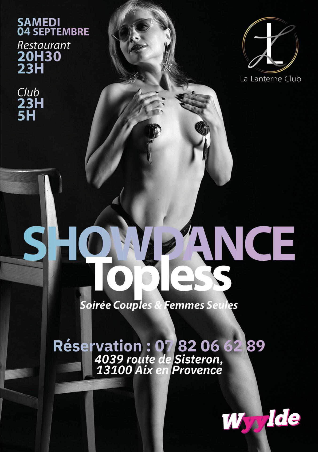 showdance topless samedi 04 septembre 2021