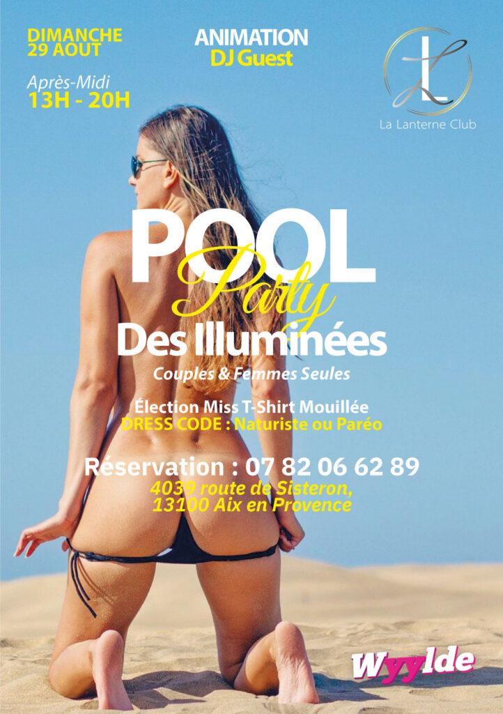 """29 Aout 2021 : """"Pool Party"""" (couples et femmes seules) Après-midi [13H/20H]"""