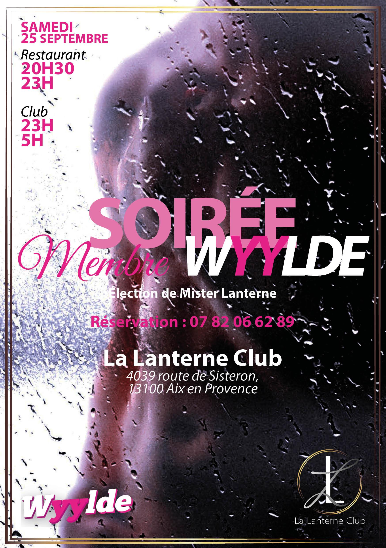 """25 Septembre 2021 : """"Élection Mister Lanterne"""" (Soirée couples et femmes seules) [20h30/05h]"""