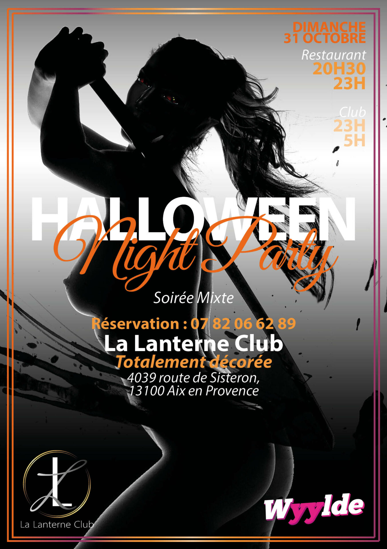 soiree mixte speciale dimanche Halloween Night Party